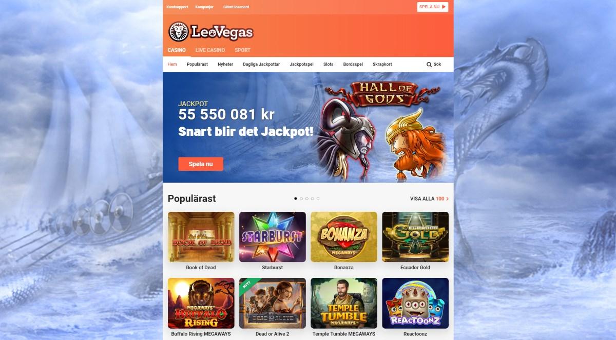 Spela hos LeoVegas casino